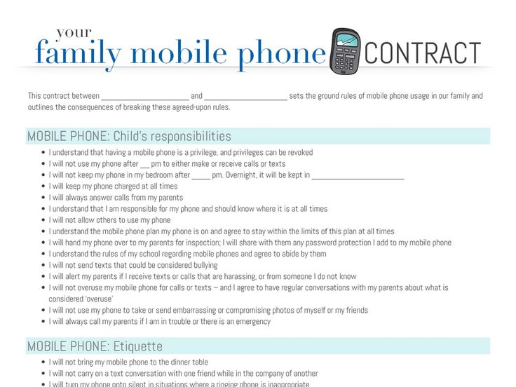 Mobile Phone Contract - Teens And Mobile Phones - Smart Phone