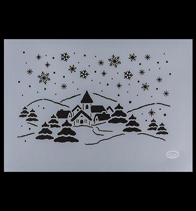 Sjabloon winterdorp - 900268500 - 900268500 - Merk Viva decor - Mask Stencil Sjablonen ViVa Universele