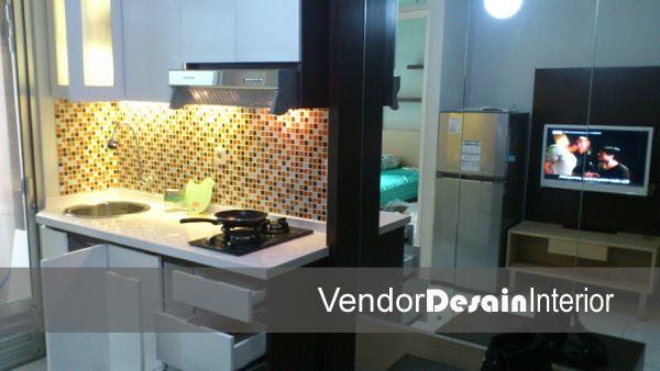 Desain Interior Kitchen set di Apartemen Kalibata 0812 1233 9393