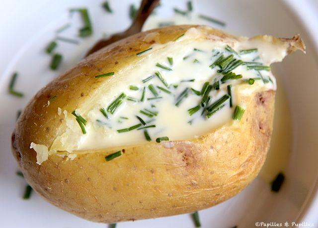 Pomme de terre au four crème et ciboulette