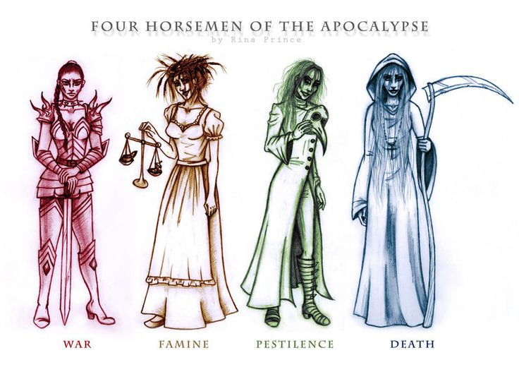 Four Horsemen of the Apocalypse by Rina-Prince