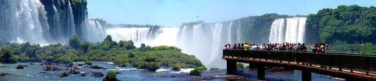 Iguazu Falls - Argentina-Brazil - walkways allow close views of the falls from both Argentina and Brazil