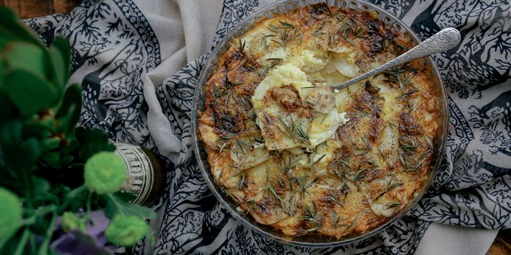 Potato Bake with Rosemary   Cheddar