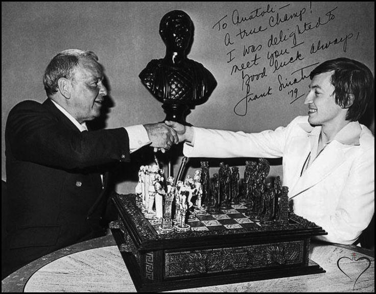 Frank Sinatra and Anatoly Karpov Las Vegas, 1979.