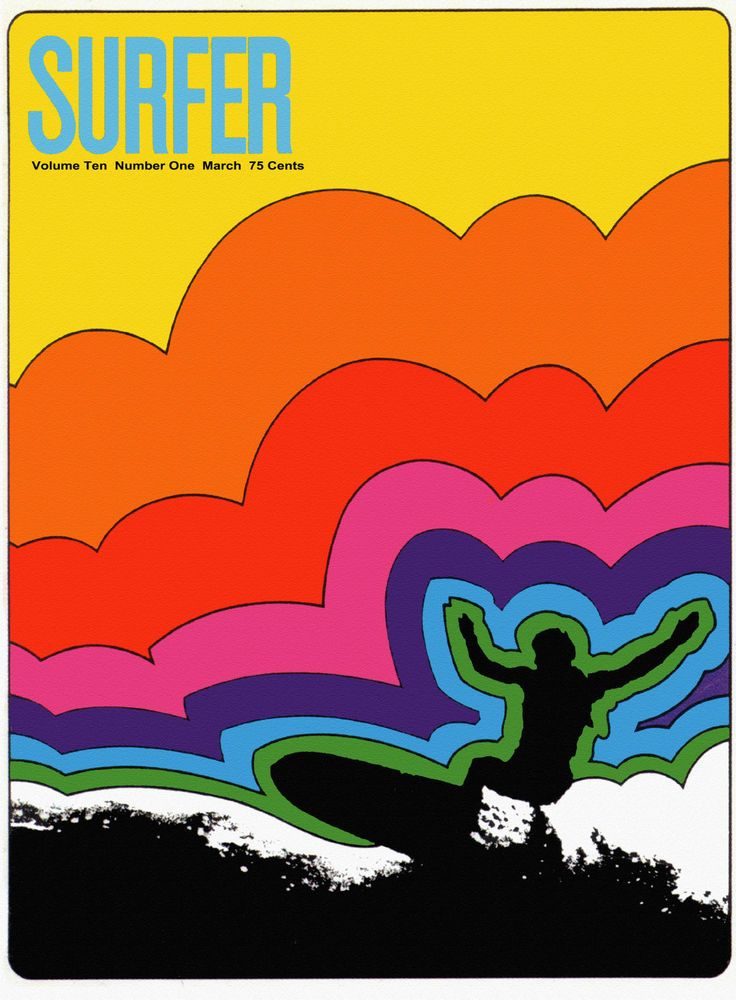 "Surfer Mag Cover, Retro Surfing, 16""x11"" CANVAS ART, VINTAGE SURF SPORTS"