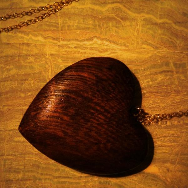 a wooden heart...