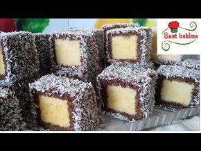 لقمات الكيك التركية الراائعة خفيفة و سهلة التحضير تدوب بالفم مثل القطن - YouTube