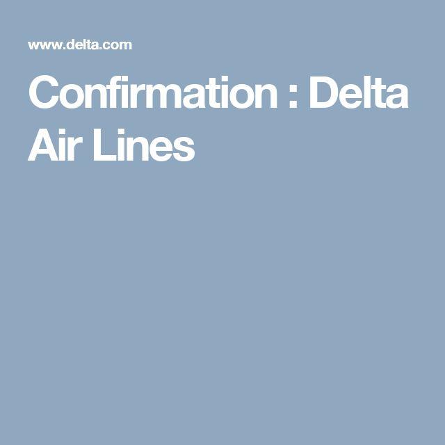 Confirmation : Delta Air Lines