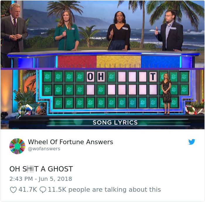 Someone Is Tweeting Hilariously Wrong Wheel Of Fortune Answers And We Can T Get Enough Best Funny Jokes Buzzfeed Funny Crazy Funny Memes