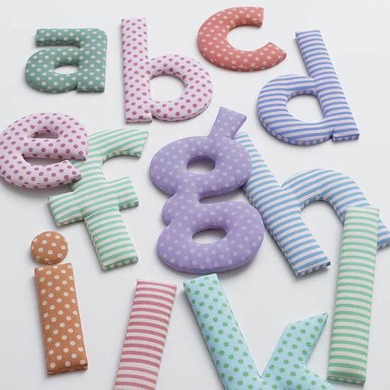 The Land of Nod | Kids Wall Decor: Kids Colorful Fabric Wall Letters in Alphabet & Numbers Wall Art