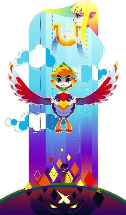 Zelda Skyward Sword Poster by hollyfig