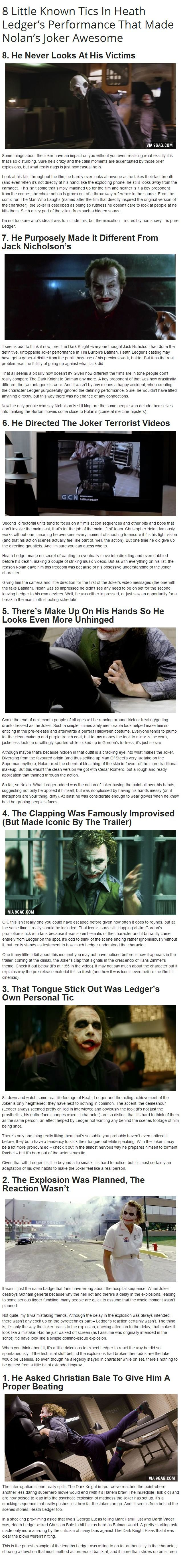Heath Ledger's The Joker (BTW beautiful danish design in that movie, like the B&O speakers and tv in the picture)
