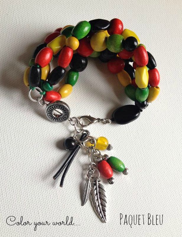 Bracelet, Rasta Colors :) 1 Love.