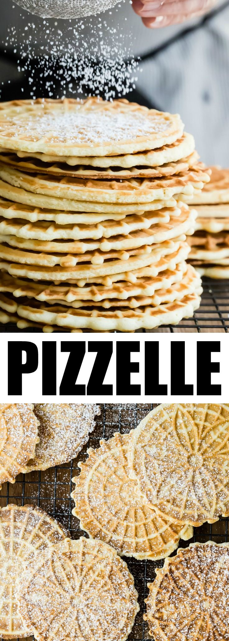 An easy Pizzelle recipe for the classic Italian cookie. Lightly sweetened and flavored with vanilla or anise, they are perfect for holiday gift-giving! via @culinaryhill
