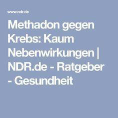 Methadon gegen Krebs: Kaum Nebenwirkungen   NDR.de - Ratgeber - Gesundheit