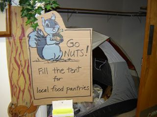 Go Nuts! Fill the tent for local food pantries.