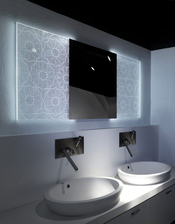 SELIN2 mirror Backlit Bathroom Mirrors With Holographic Effect by Elia  Felices. 17 best ideas about Backlit Bathroom Mirror on Pinterest