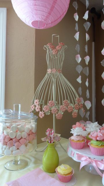 This is so cute and you can find these dress stands everywhere now.  It could be a cute gift for the hostess or a guest! Plus great centerpiece!