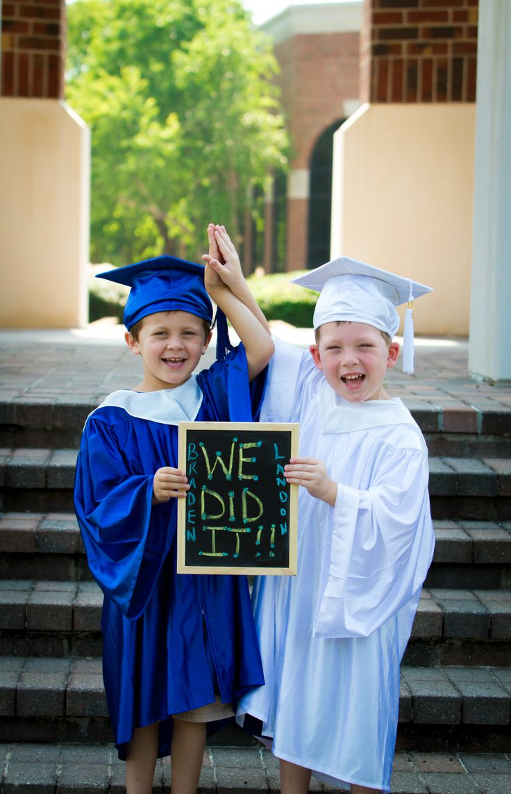Cousins graduating Pre-K! I will recreate this picture for their high school graduation!
