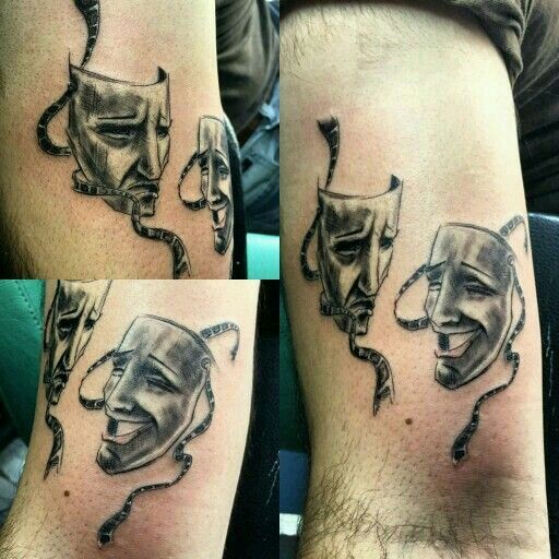 21 Best Happy And Sad Face Tattoos Designs Images On