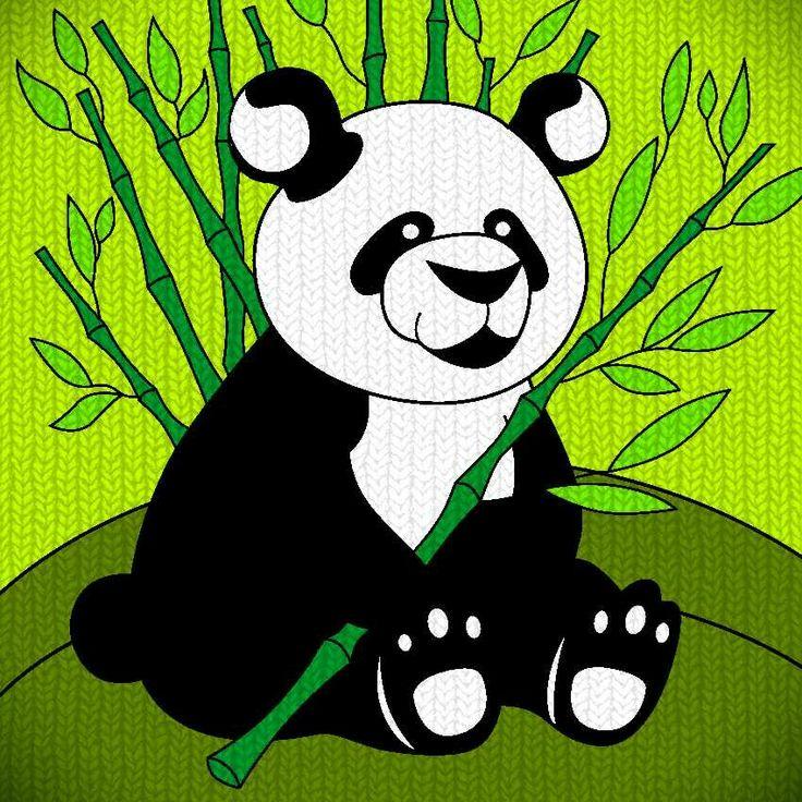 Panda...🐼🐼🐼 #wool texture #colorfy