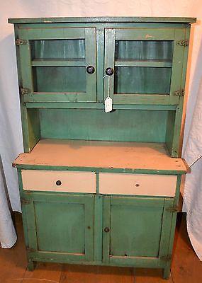 17 Best Images About Child S Stepback Antique Primitive Cupboard On Pinterest Green