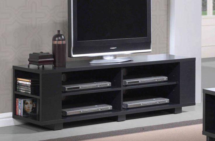 "Dave Espresso TV stand 91172 Features : Dave Collection   Espresso  Finish  with 2 shelves  Dimensions : TV Stand : 59"" x 15"" x 17""H"