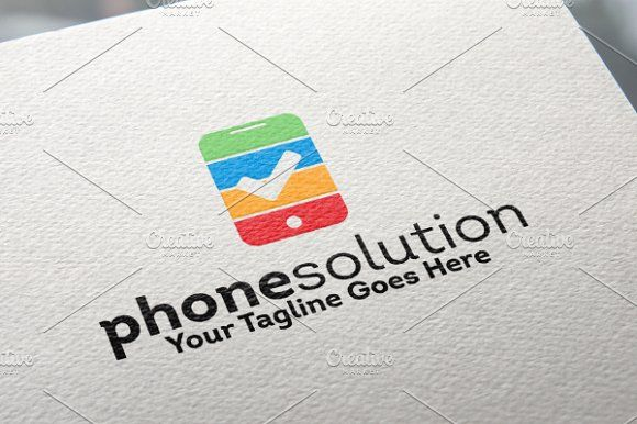 Phone Solution Logo by REDVY on @creativemarket