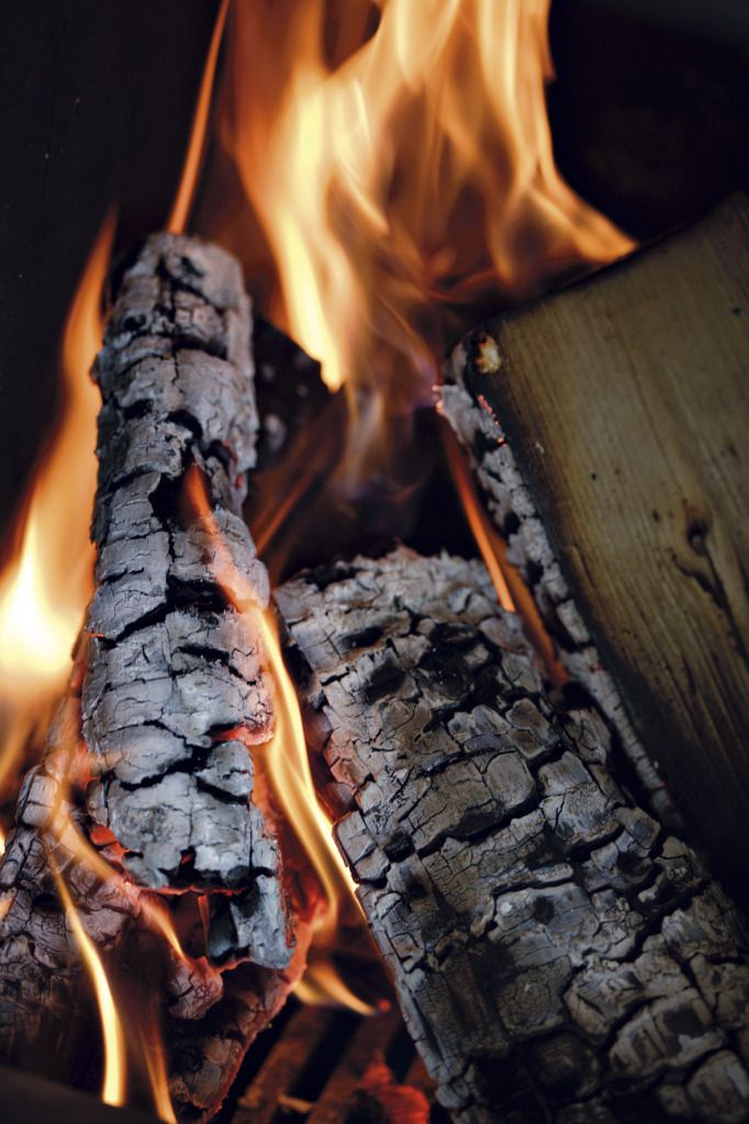 Open fire. Again, the smell of a crackling wood fire, inside or out, I love it, and I always have.