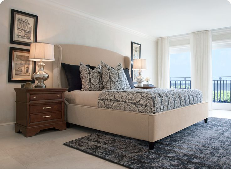 An upholstered bed adds easy luxury to any bedroom.