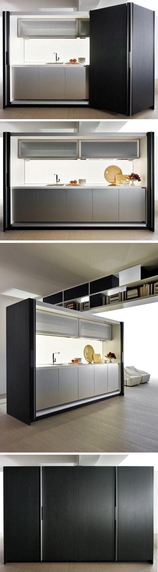Hideaway linear kitchen TIVALÌ by DADA | #design Dante Bonuccelli @moltenidada
