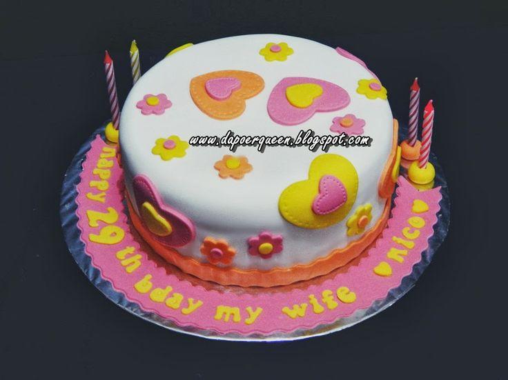 Dapoer Queen: Heart Flowery cake