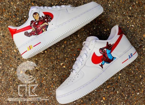 Custom Nike Air Force 1 Ironman vs