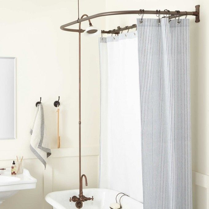 Porcelain Shower Head Oil Rubbed Bronze Clawfoot Tub Shower