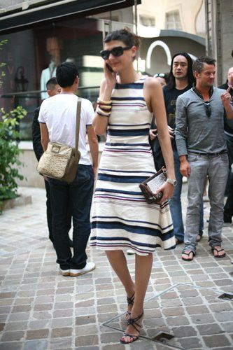 Tres Chic at Junya « The Sartorialist - the perfect look for a European summer trip, no?
