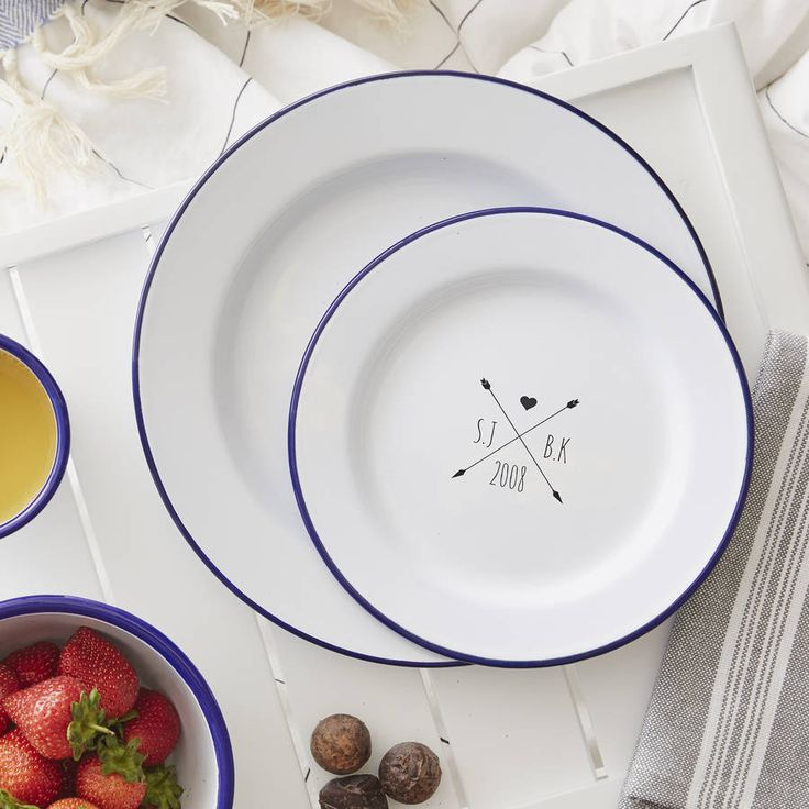 Personalised Wedding Plates From Not On The High Street