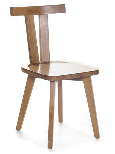 T-Back Chair. Solid wood chair