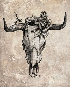 bull skull tattoo arm - Google Search