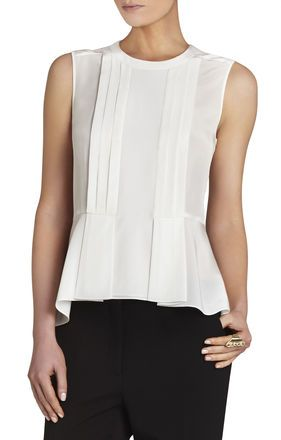 Desiree Sleeveless Tuxedo Tank | BCBG  CHECK OUT THESE MARILYN DENIS PICKS http://www.marilyn.ca/Fashion/segment/Daily/June2016/02_19_2016/UnconventionalPartyLooks   ALSO: http://www.marilyn.ca/Fashion/segment/Daily/June2016/02_19_2016/ShoppingLessons