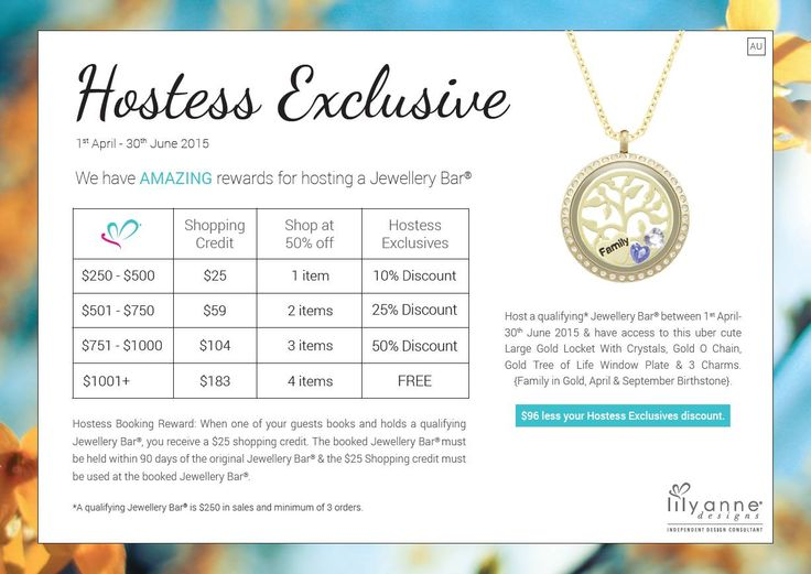 Lily Anne Designs AMAZING Hostess rewards - Hostess exclusive from 1st April - 30th June 2015 #lilyannedesigns #lilyannedesignswithSarahKelly #hostess #rewards #free #halfprice #jewellery