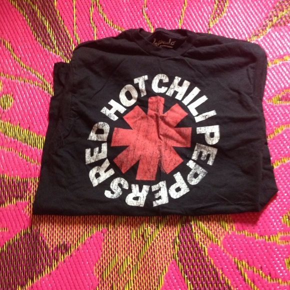 Red hot chili peppers band shirt Black distressed style red hot chili peppers band shirt. Men's shirt size medium. Worn only a handful of times. Tops Tees - Short Sleeve