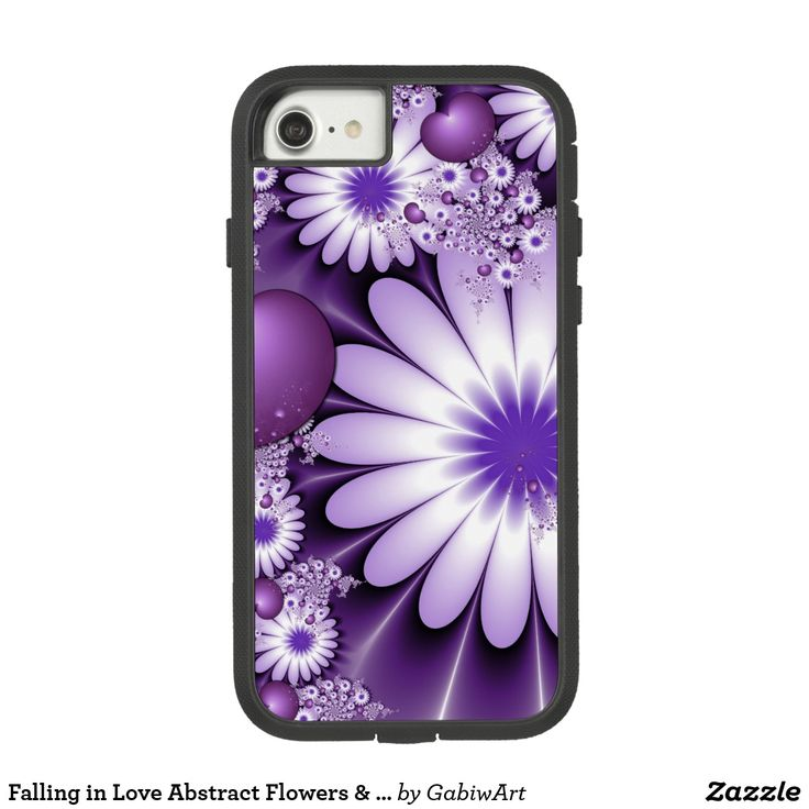 Falling in Love Abstract Flowers & Hearts Fractal Case-Mate Tough Extreme iPhone 7 Case