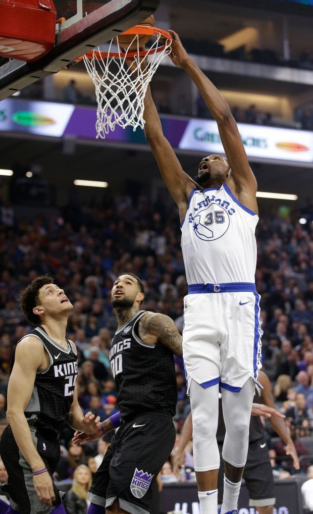 Academy of Scoring Basketball - Golden State Warriors forward Kevin Durant goes to the basket over Sacramento Kings Justin Jackson, left, and Willie Cauley-Stein during the first quarter of an NBA basketball game Friday, Feb. 2, 2018, in Sacramento, Calif. (AP Photo/Rich Pedroncelli) TSA Is a Complete Ball Handling, Shooting, And Finishing System!  Here's What's Included...