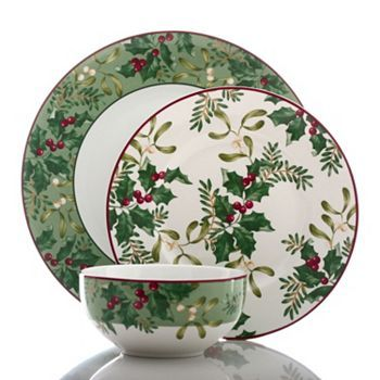 222 Fifth Christmas Foliage 12-pc. Dinnerware Set  I want this set!!!
