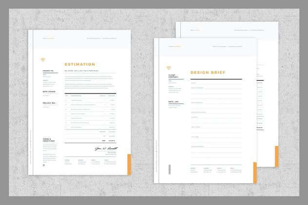 Brief Estimation Invoice Templates By Egotype On Envato Elements Invoice Template Invoice Design Quote Template
