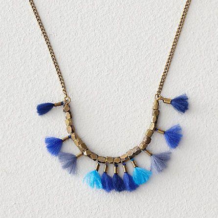 who again multi thread tassel necklace, isabel marant | steven alan