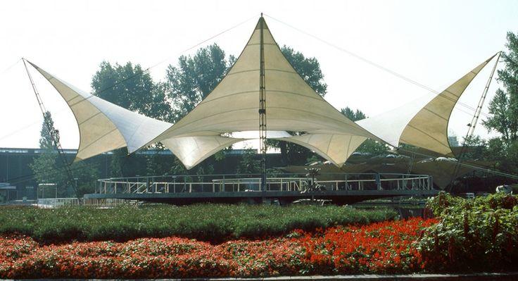 Frei Otto_Bundesgartenschau 1957_02_Tanzbrunnen_Koeln 1957_Foto Atelier Frei Otto Warmbronn