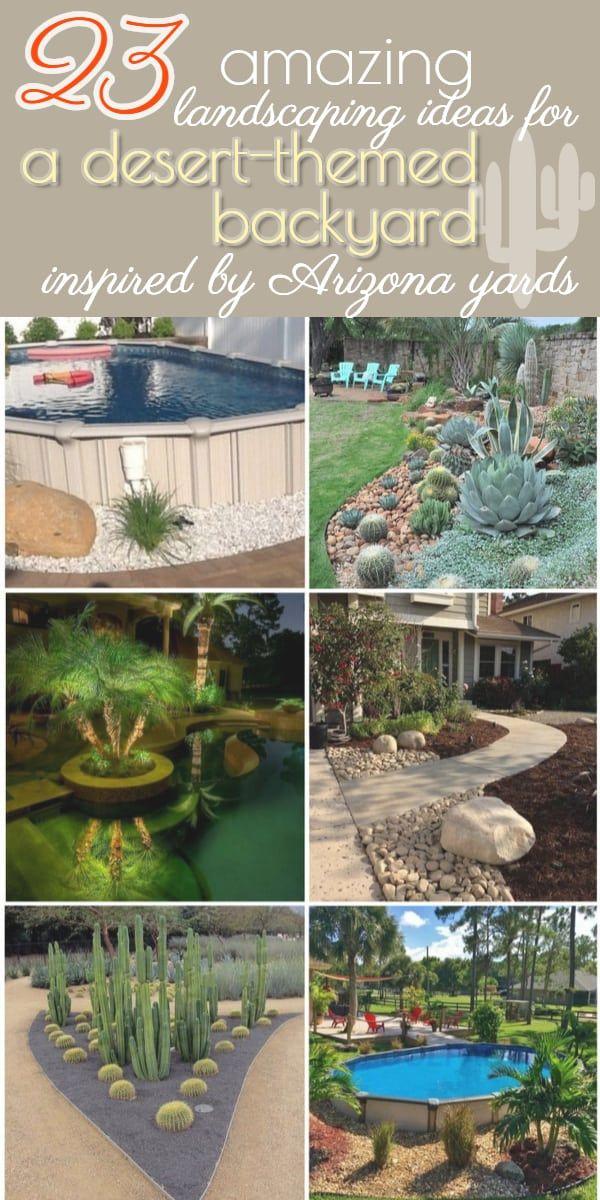 23 Arizona Backyard Ideas On A Budget A Nest With A Yard Arizona Backyard Desert Landscaping Budget Backyard