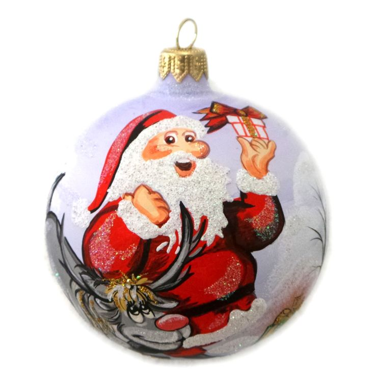 Best glass ball santa christmas ornaments images on