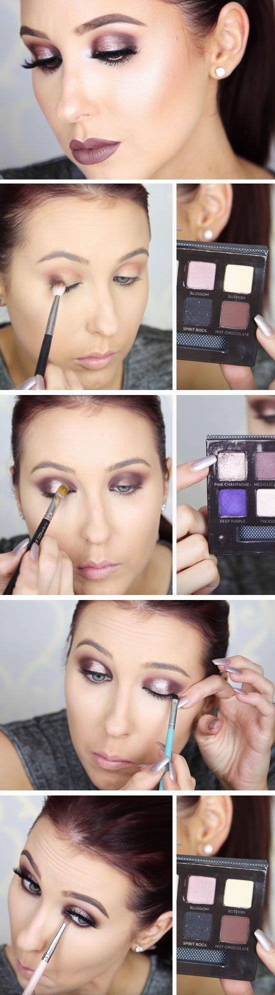 Halo Smokey Eye | Awesome Prom Makeup Ideas Full Face | DIY New Years Eve Makeup Looks Eyeshadows